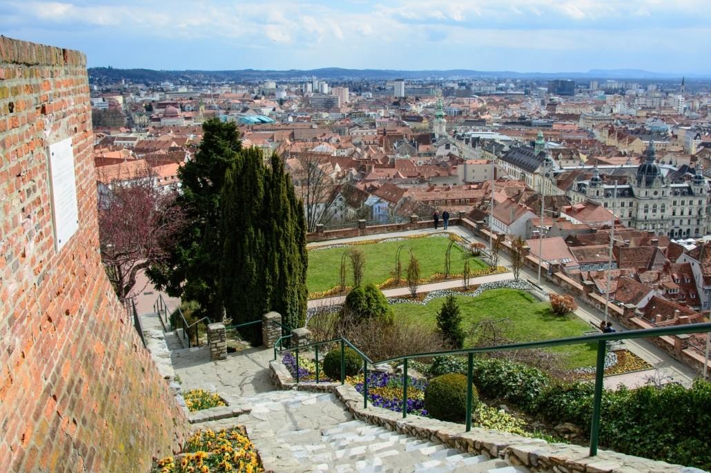 Aussicht vom Schlossberg Graz
